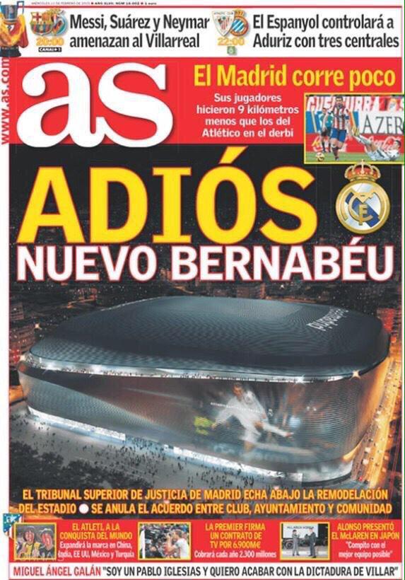PORTADA ADIOS NUEVO BERNABEU